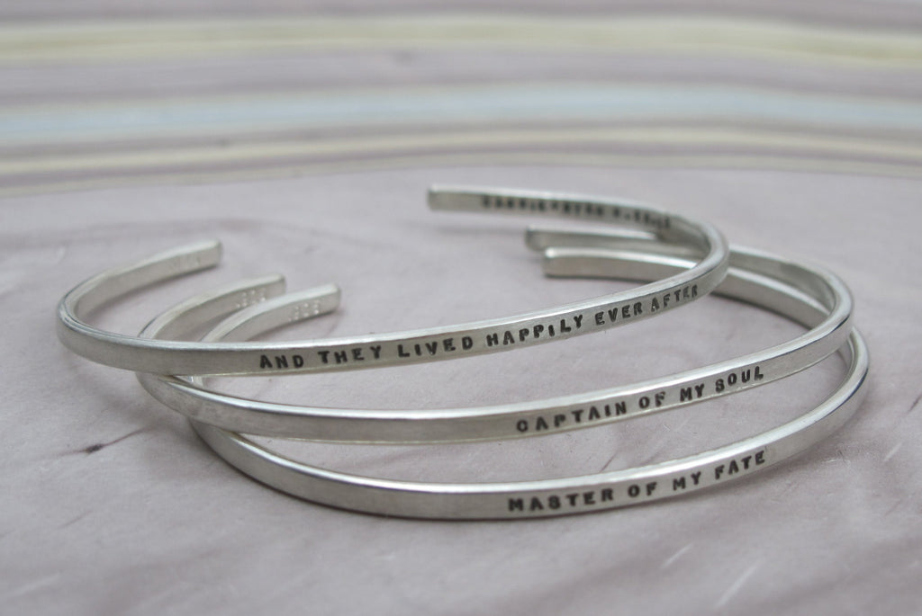 sterling silver stacking cuffs