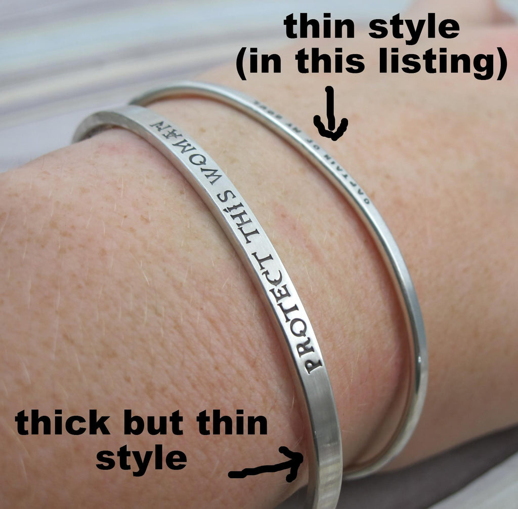 black silver bangle tied bracelets custom cuff products bracelet thin bangles new silv personalised