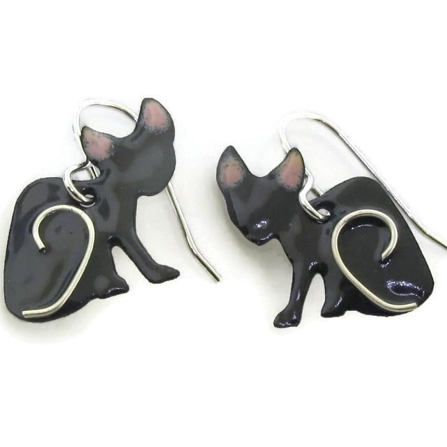 hairless cat jewelry and earrings