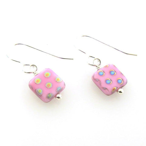 Pink Polka Dot Earrings