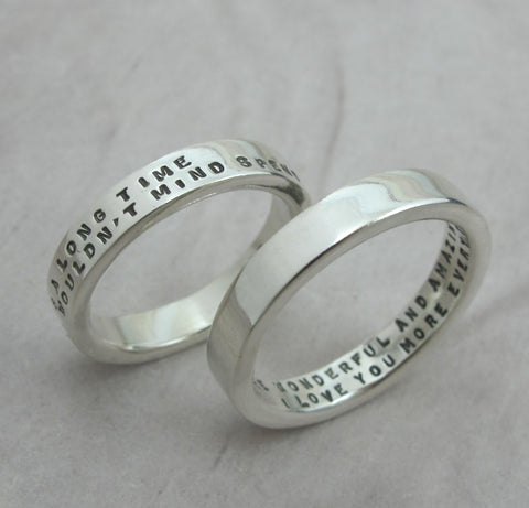 Thick Posey Ring with 2 Lines of Text