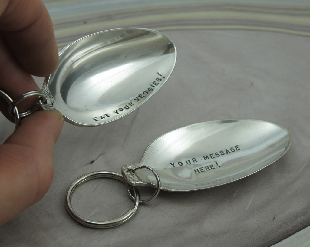 key chain from a spoon