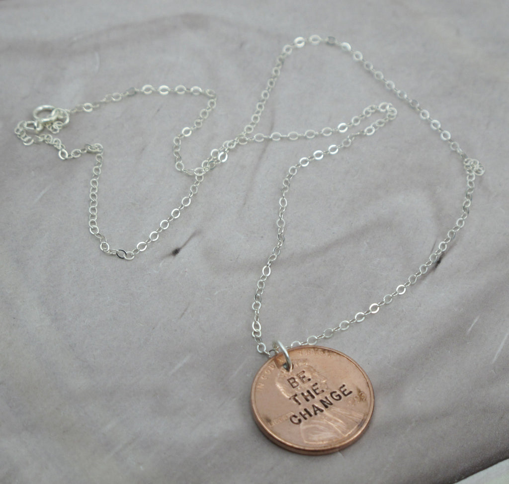 ghandi quote necklace
