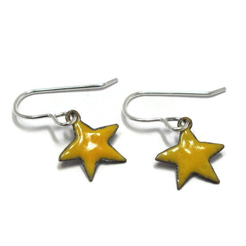 Blue or Yellow Star Earrings