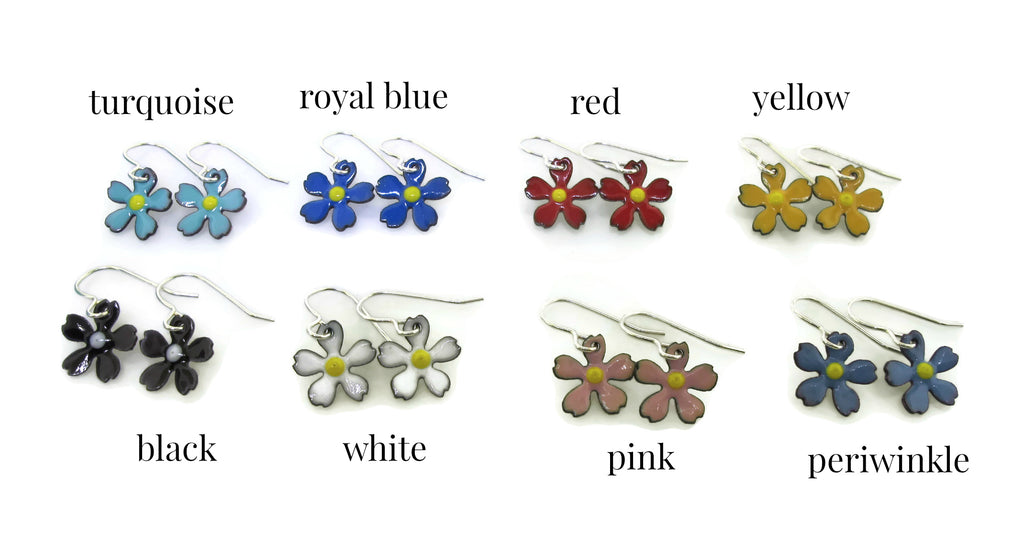 colorful handmade daisy flower jewelry