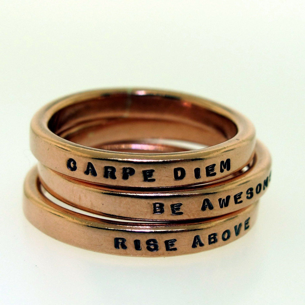 Copper Smooth Like Butter Posey Ring