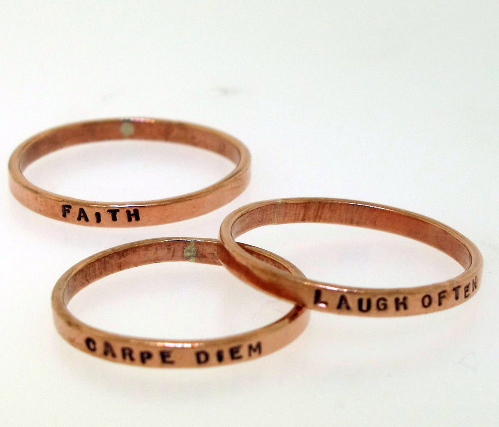 copper poesy rings