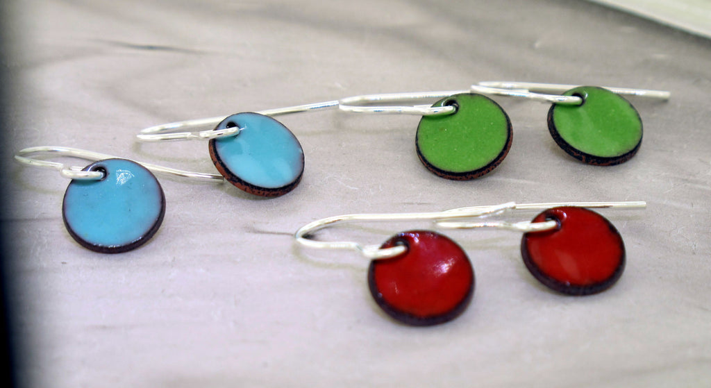 handmade dot earrings
