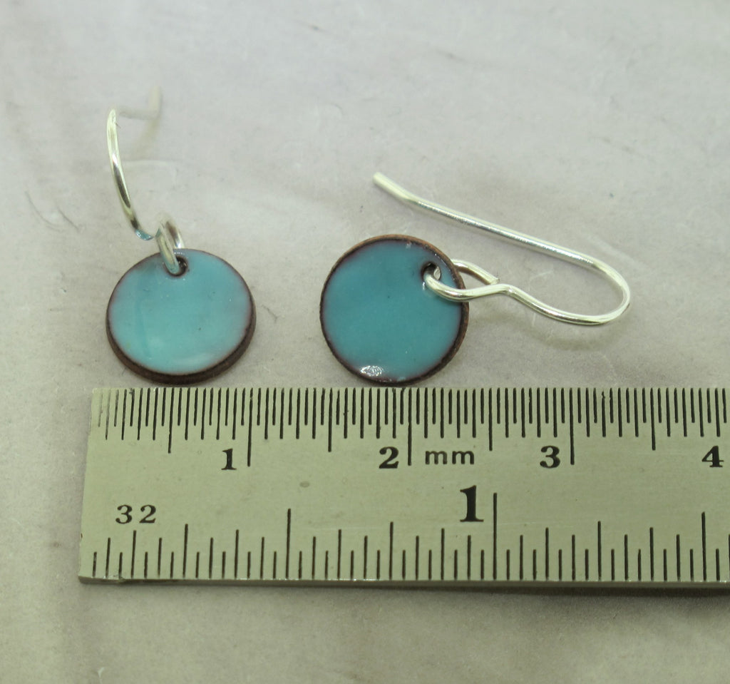 blue enamel earrings