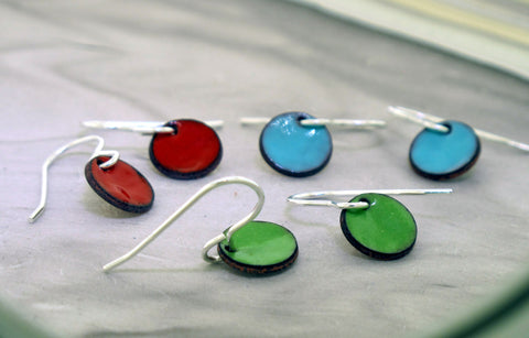 Enamel Dot Earrings