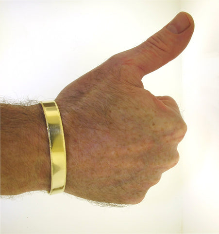 Men's Brass Bracelet, hammered edge and hidden words