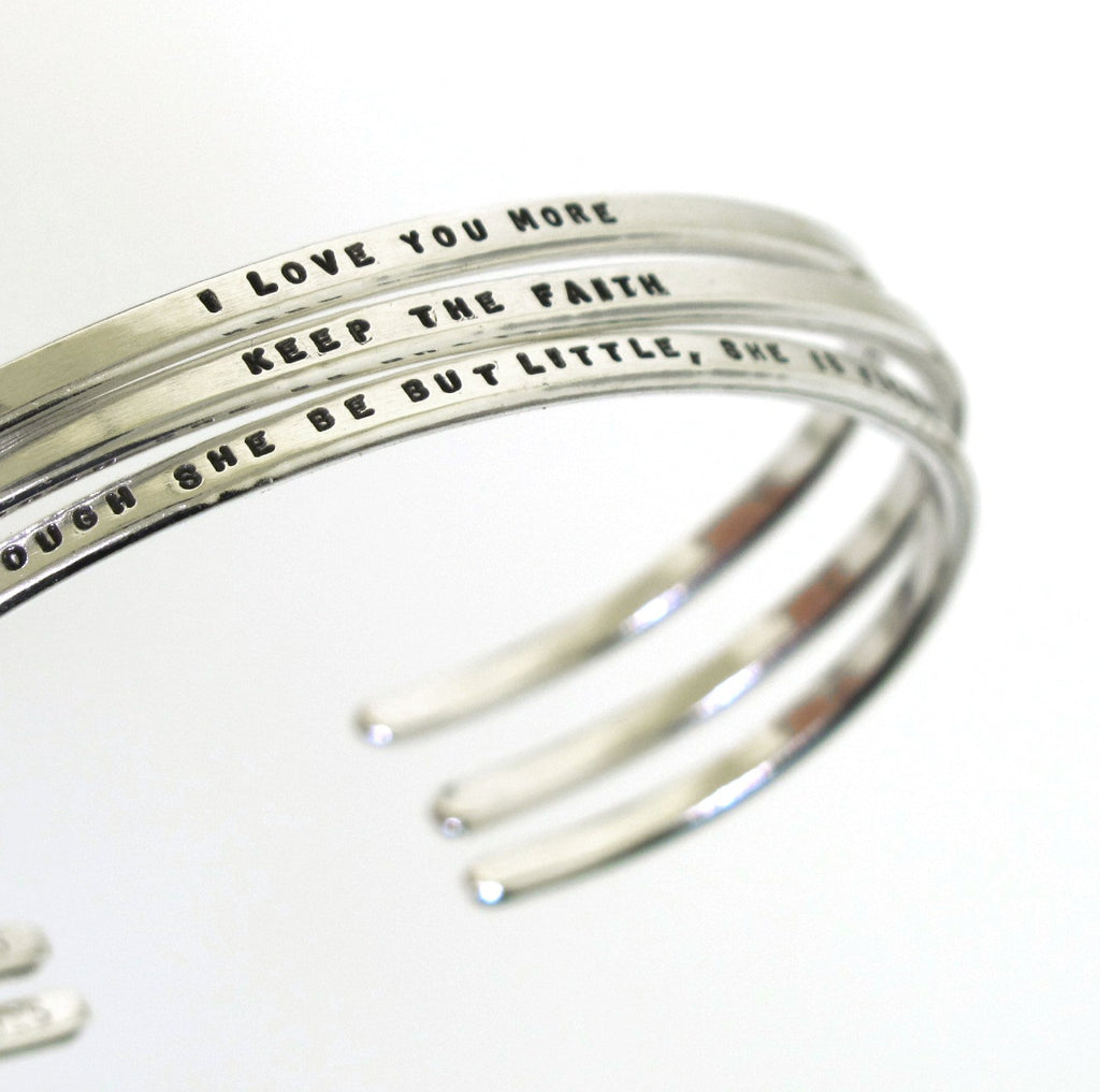 hand stamped jewelry, hand stamped cuff bracelets