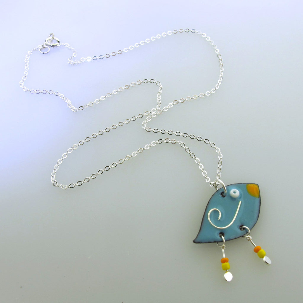 whimsical bird charm necklace for girls