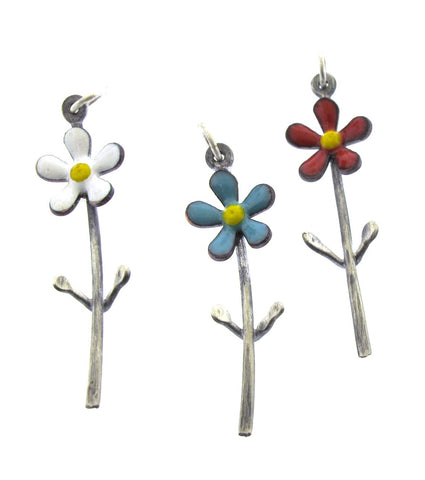 Daisy Flower Necklace with Stem