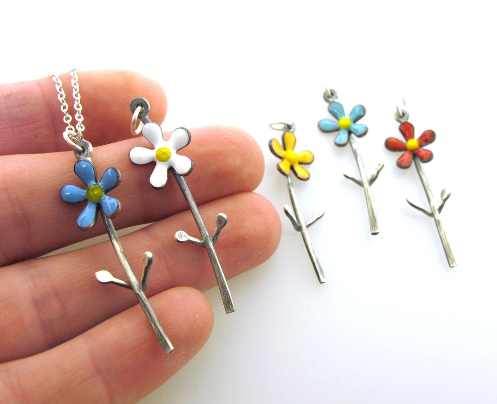 flower girl necklace, gifts for girls