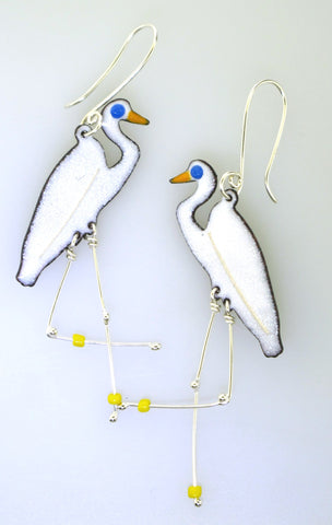 Egret Earrings