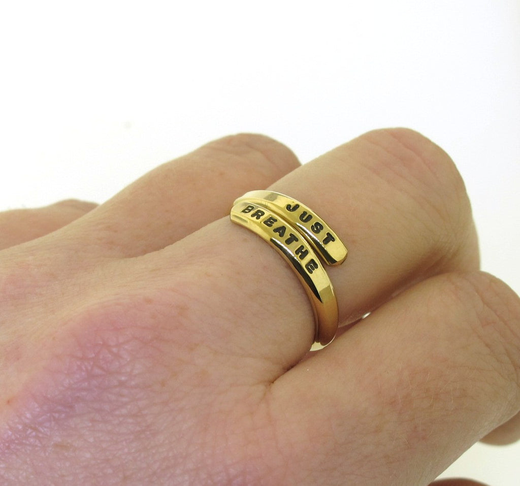 wrap ring, goldfilled gold-filled