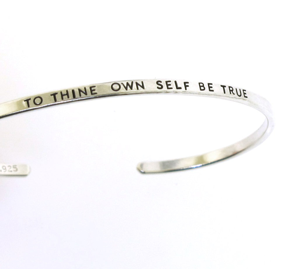 to thine own self be true cuff bracelet