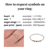 Tiny Stacking Posey Rings, Name Rings