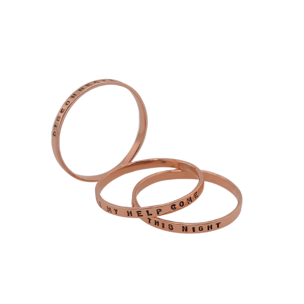 handmade copper rings