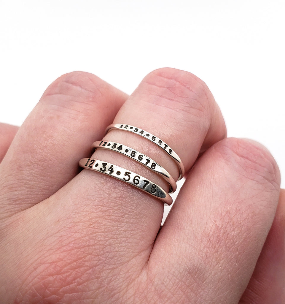 silver stacking rings by Kathryn Riechert