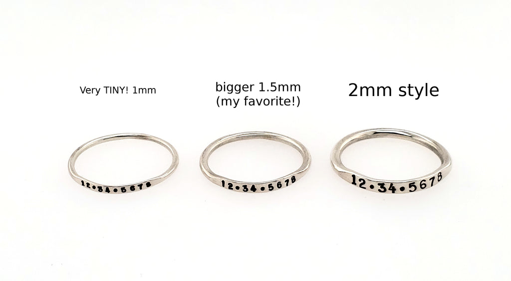 small rings for stacking
