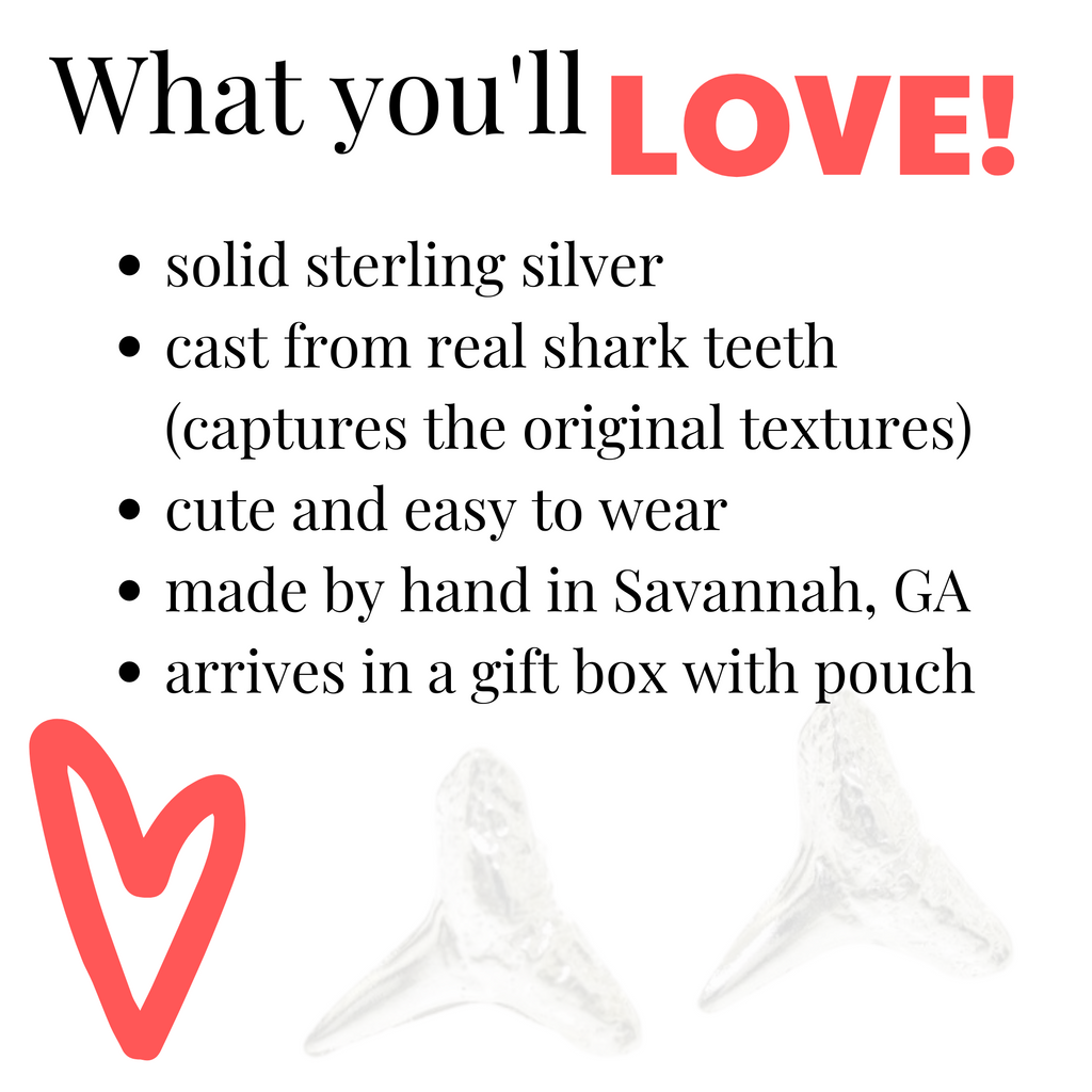 what you will love about shark teeth earrings
