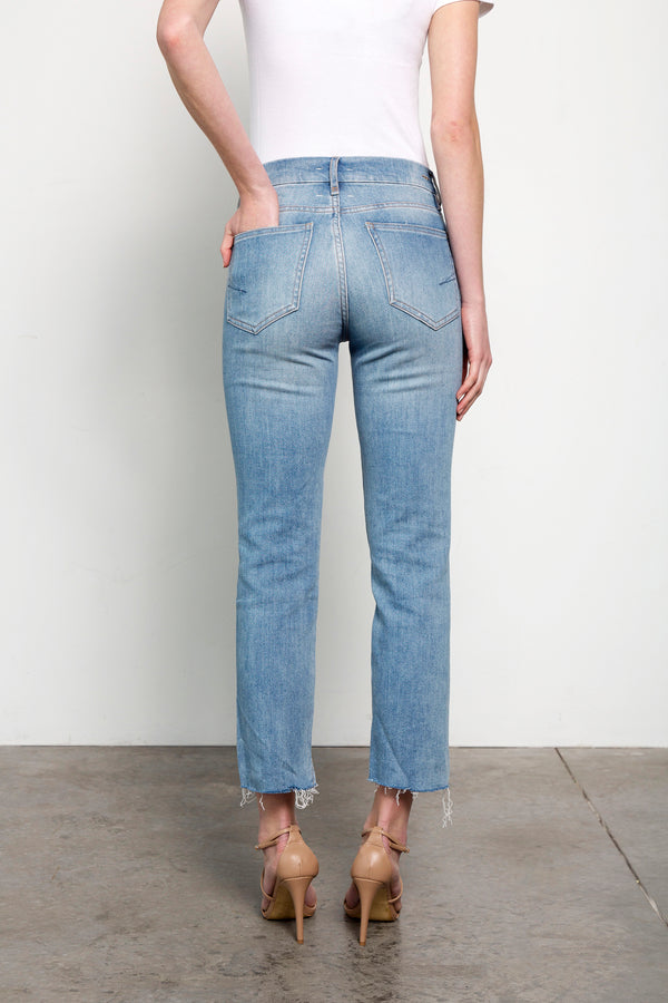 High Rise Cropped Ankle Jeans