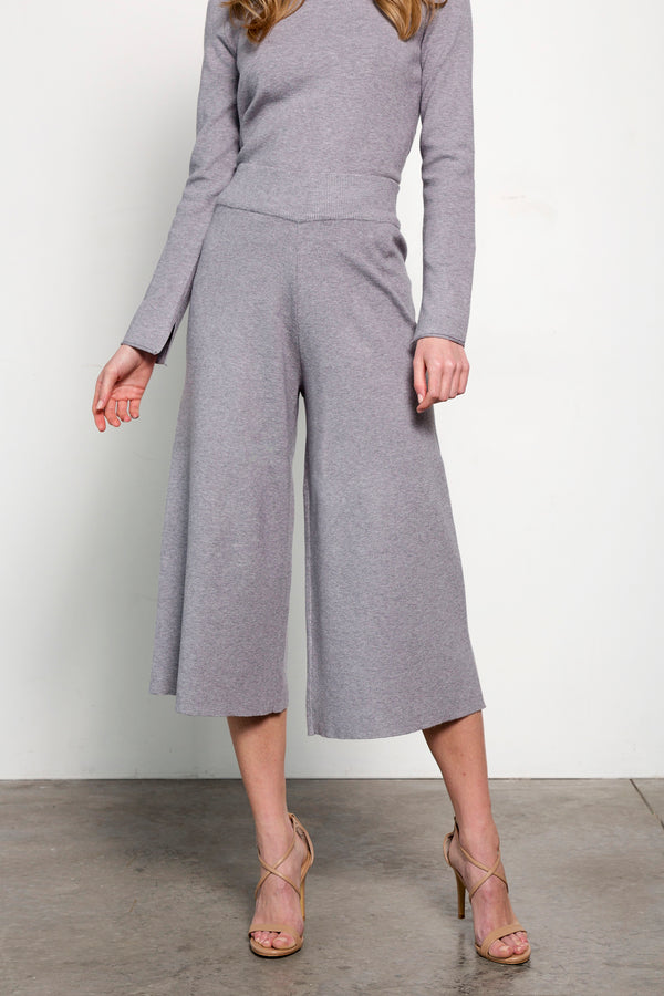 Grey Wide Legged Pants