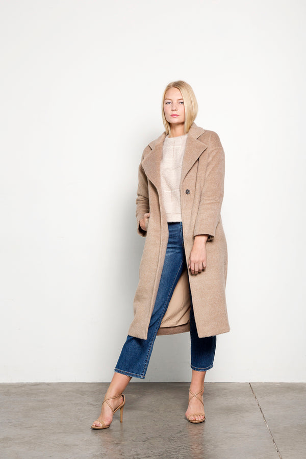 Brushed Camel Long Coat