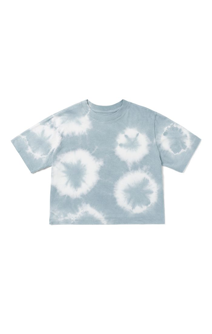 Blue Mirage Tie Dye Relaxed Crop Tee