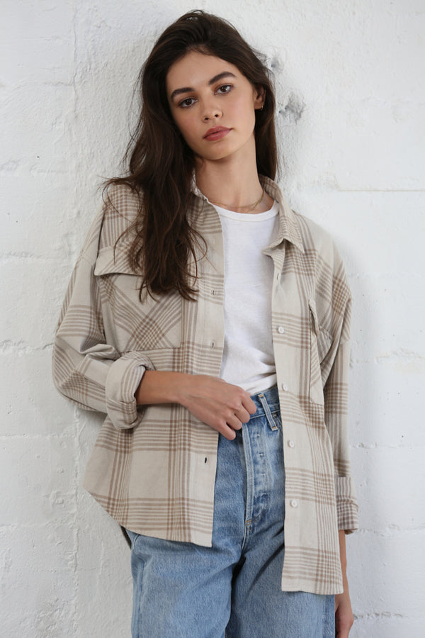 Taupe Checkered Shirt