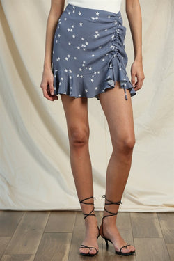 Star Ruffled Mini Skirt
