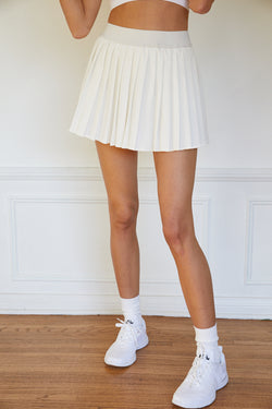 White Pleated Tennis Skirt