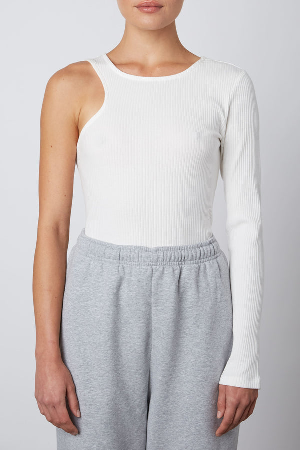 Asymmetrical Ribbed Tee