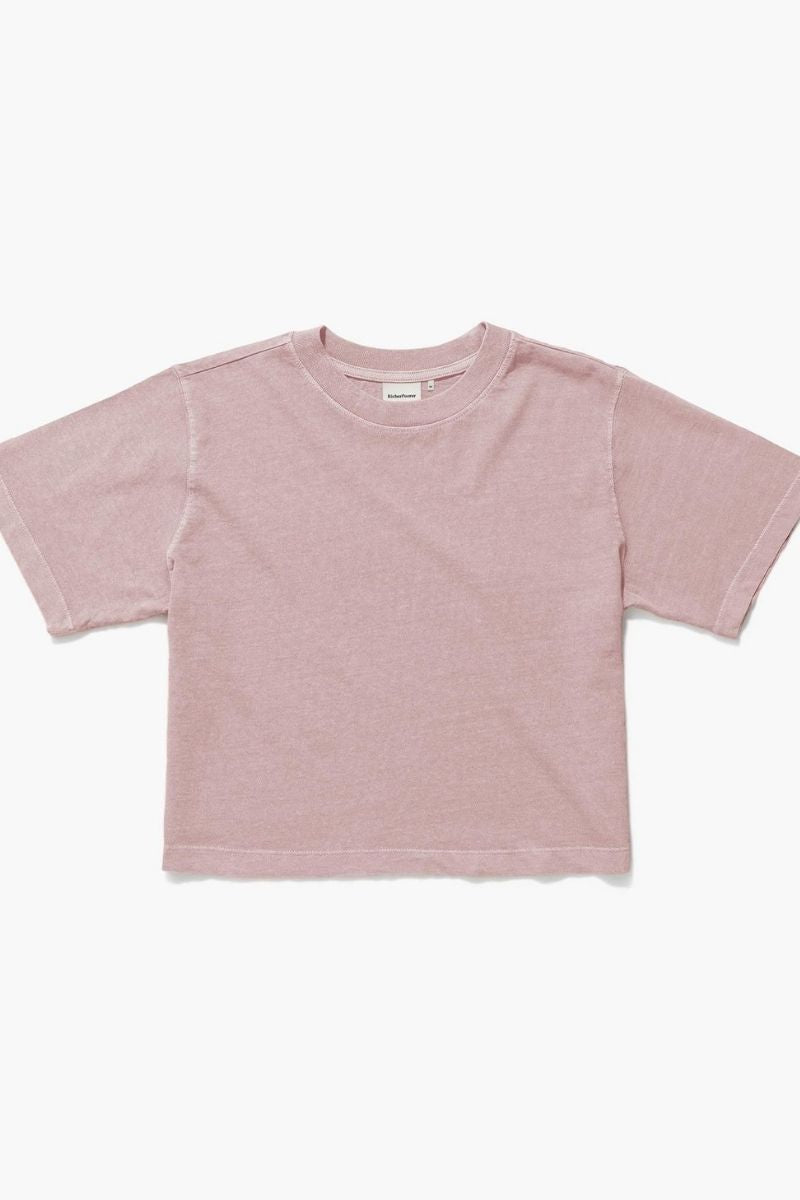 Mauve Relaxed Crop Tee