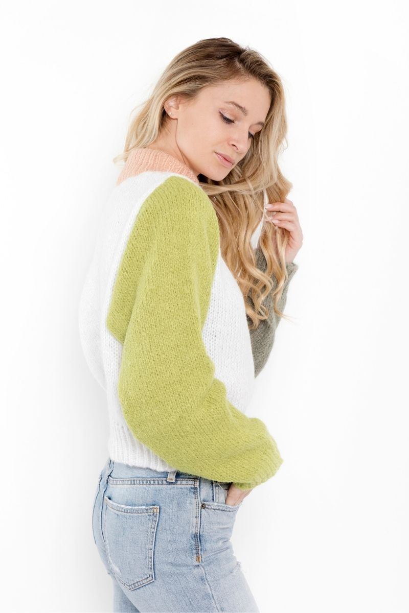 Esme Color Block Sweater