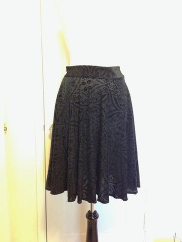 Burnt Velvet Circle Skirt