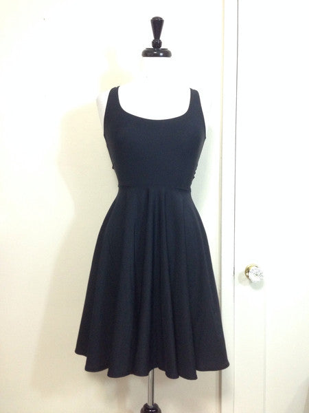 Cori Matte Spandex Skater Dress