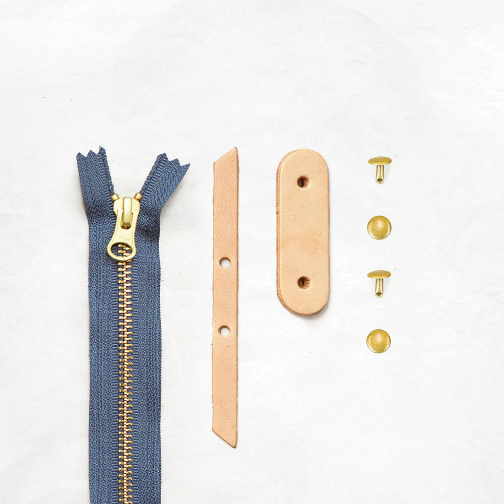 Tan + Brass + Slate Blue