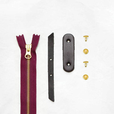 Black + Brass + Burgundy