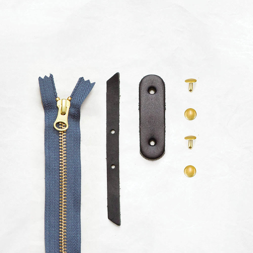 Black + Brass + Slate Blue