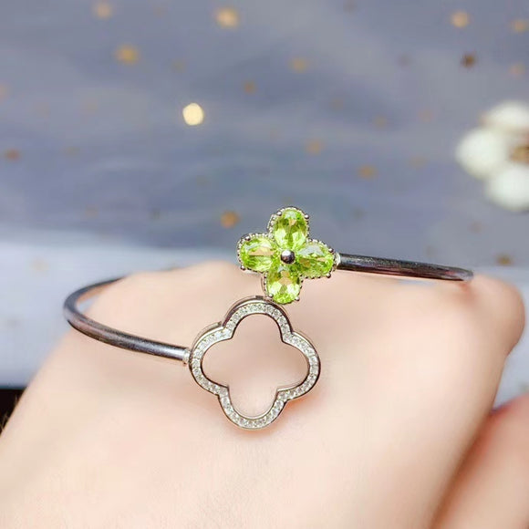 Bangles natural green peridot