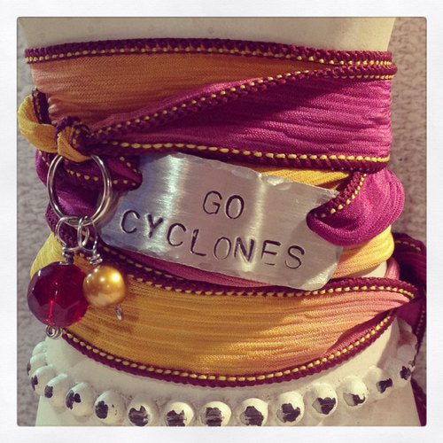 Cyclones Bracelet, Red and Gold