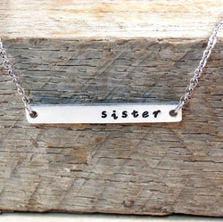 Personalized Bar Necklace, perfect for Brides Maids, friends, sisters,