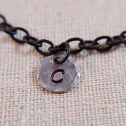 Personalized Charm Black Chain Bracelet
