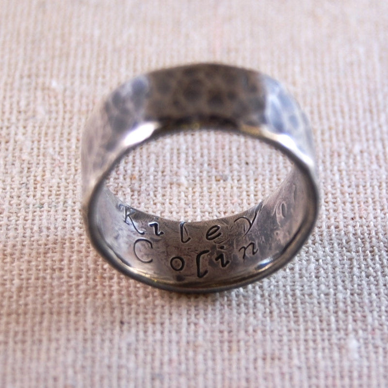 Personalized Fathers Ring Custom Fathers Ring Personalized Mens Ring