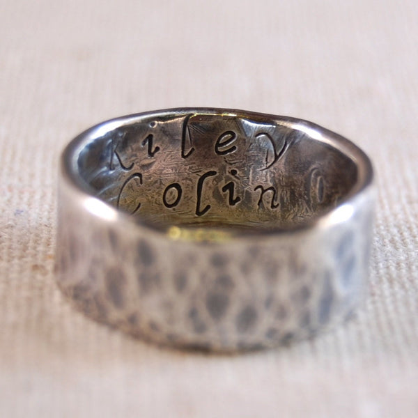 Men's Ring with Hidden Message