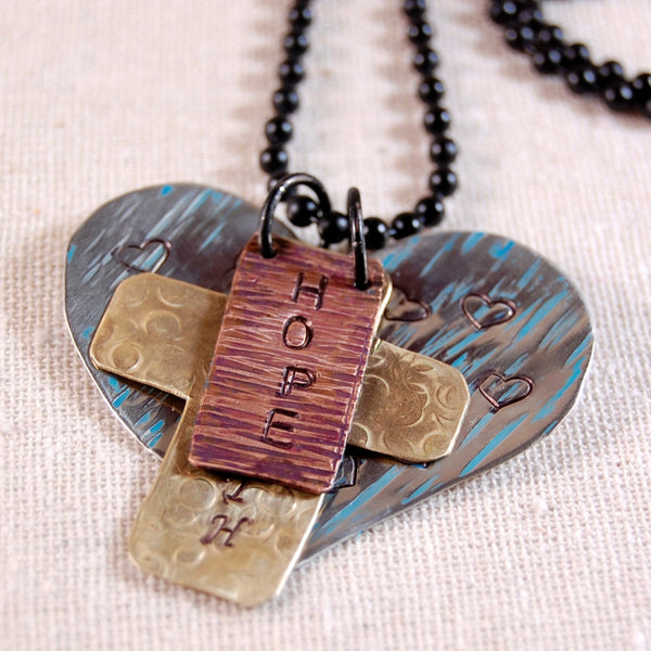Hope Faith Love Necklace, Inspiration Necklace, Word Necklace, Hope Necklace, Faith Necklace, Love Necklace