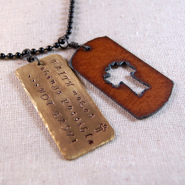 Faith Inspirational Necklace, Inspirational Verse Necklace,